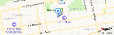 СКФУ на карте Ставрополя