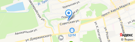 Следственный отдел по Промышленному району г. Ставрополя на карте Ставрополя