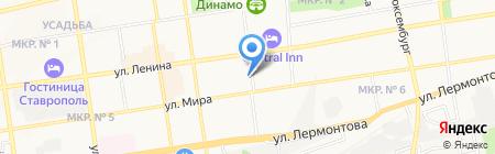Парадиз на карте Ставрополя