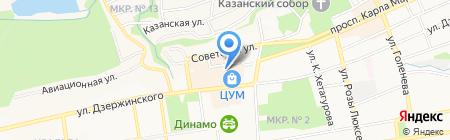 Моделон на карте Ставрополя
