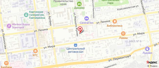Карта расположения пункта доставки СИТИЛИНК в городе Ставрополь