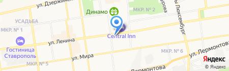 Поликлиника Центральная на карте Ставрополя