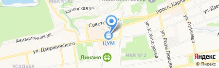 Городские цветы на карте Ставрополя