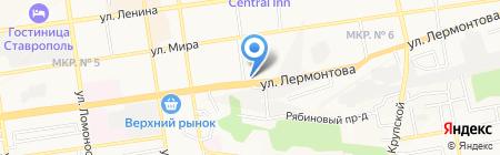 Ставропольский краевой суд на карте Ставрополя