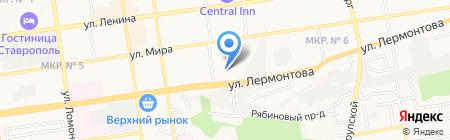 Закан на карте Ставрополя