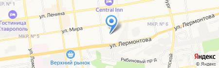 Межрайонный отдел судебных приставов по исполнению особых исполнительных производств на карте Ставрополя