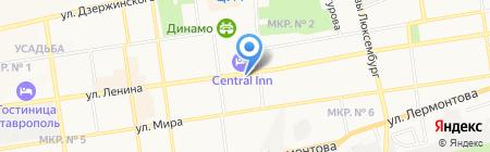 Форпост на карте Ставрополя