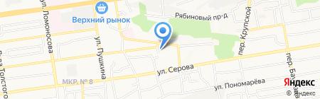 Ставропольская межрайонная прокуратура по надзору за соблюдением законов в исправительных учреждениях края на карте Ставрополя