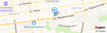 Министерство труда и социальной защиты населения Ставропольского края на карте Ставрополя