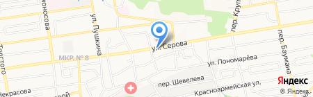 Сиротинский на карте Ставрополя