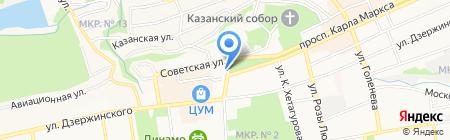 Ставропольская централизованная библиотечная система на карте Ставрополя