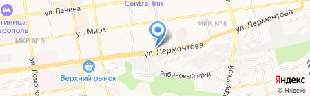 Сокол на карте Ставрополя