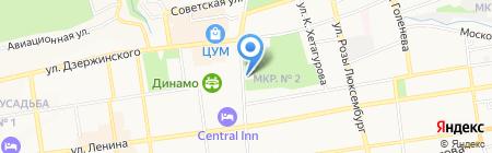 Subway на карте Ставрополя