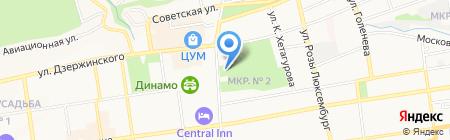 Бродвей на карте Ставрополя