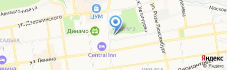 Специальная (коррекционная) общеобразовательная школа-интернат №36 г. Ставрополя на карте Ставрополя