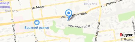 Росинка на карте Ставрополя