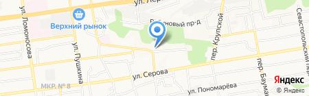 Партизанский на карте Ставрополя