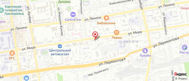 Карта расположения пункта доставки Lamoda/Pick-up в городе Ставрополь