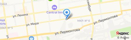 Заубер Банк на карте Ставрополя