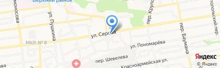 Пивоварня купца Алафузова на карте Ставрополя