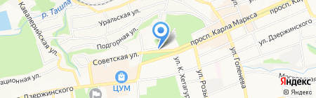 Комитет муниципального заказа и торговли на карте Ставрополя