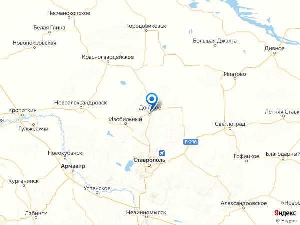 село Донское на карте
