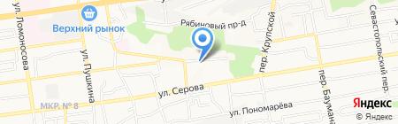 Александровский паркъ III на карте Ставрополя