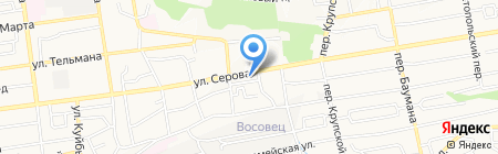Городская клиническая консультативно-диагностическая поликлиника на карте Ставрополя