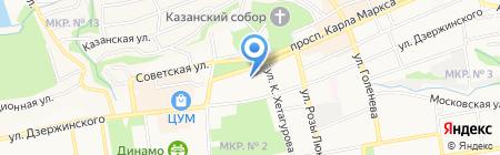 Центр занятости населения г. Ставрополя на карте Ставрополя