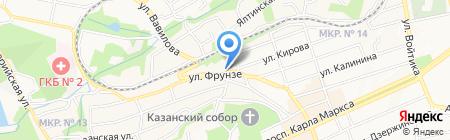 Гимназия №12 им. В.Э. Белоконя на карте Ставрополя