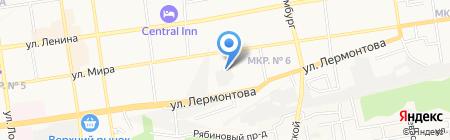 Луч на карте Ставрополя