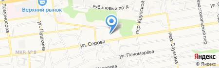Ставропольский кооперативный техникум экономики на карте Ставрополя