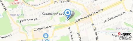 Ставропольские электрические сети на карте Ставрополя
