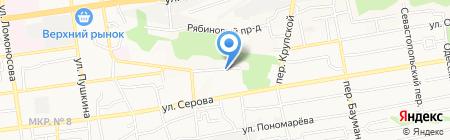 ЮГ на карте Ставрополя