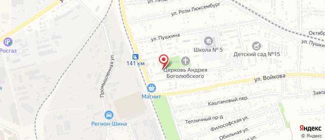 Карта расположения пункта доставки Михайловск Пушкина в городе Михайловск