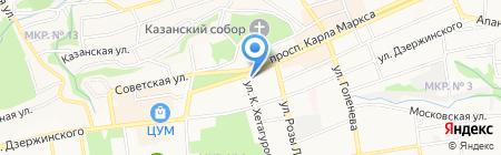 Корона на карте Ставрополя