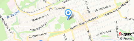 Казанский кафедральный собор на карте Ставрополя