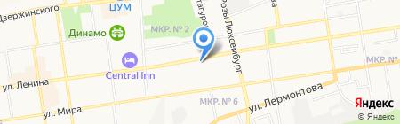 Машиностроитель-3 на карте Ставрополя