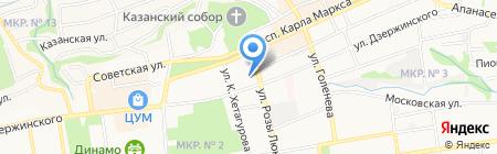 Детская музыкальная школа №1 на карте Ставрополя