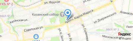 Прокуратура г. Ставрополя на карте Ставрополя
