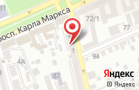 Схема проезда до компании Консалт-Профи в Ставрополе