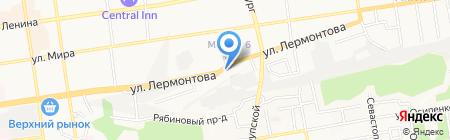 На Вираже на карте Ставрополя