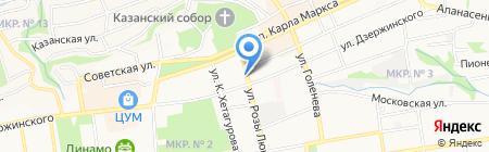 Интерия на карте Ставрополя