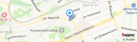 Ларец на карте Ставрополя