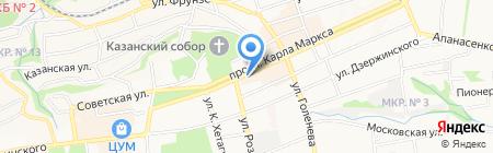 Барберини на карте Ставрополя