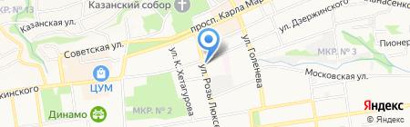 Термо-тек на карте Ставрополя