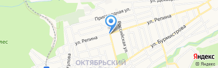 Магазин по продаже овощей и фруктов на ул. Трунова на карте Ставрополя