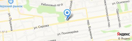 Гиза на карте Ставрополя