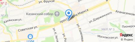Адамас на карте Ставрополя
