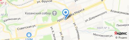 Модная кожа на карте Ставрополя